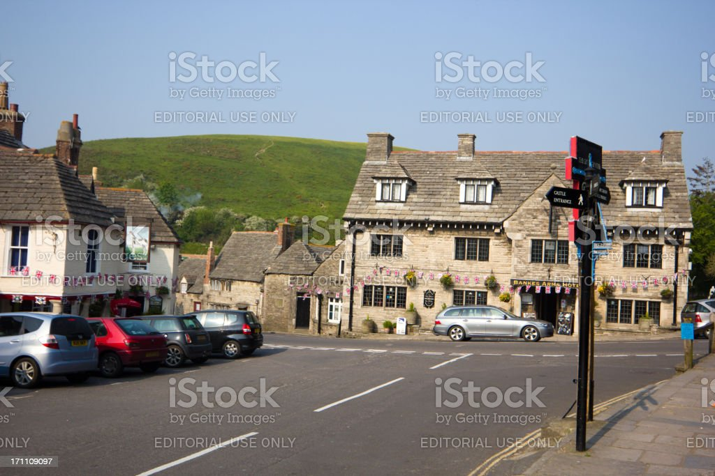 Bankes Armes Hotel in Corfe, England royalty-free stock photo