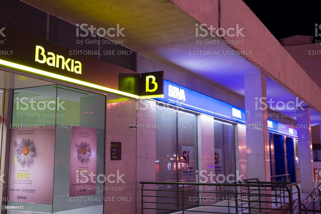 Bankia branch - foto de stock