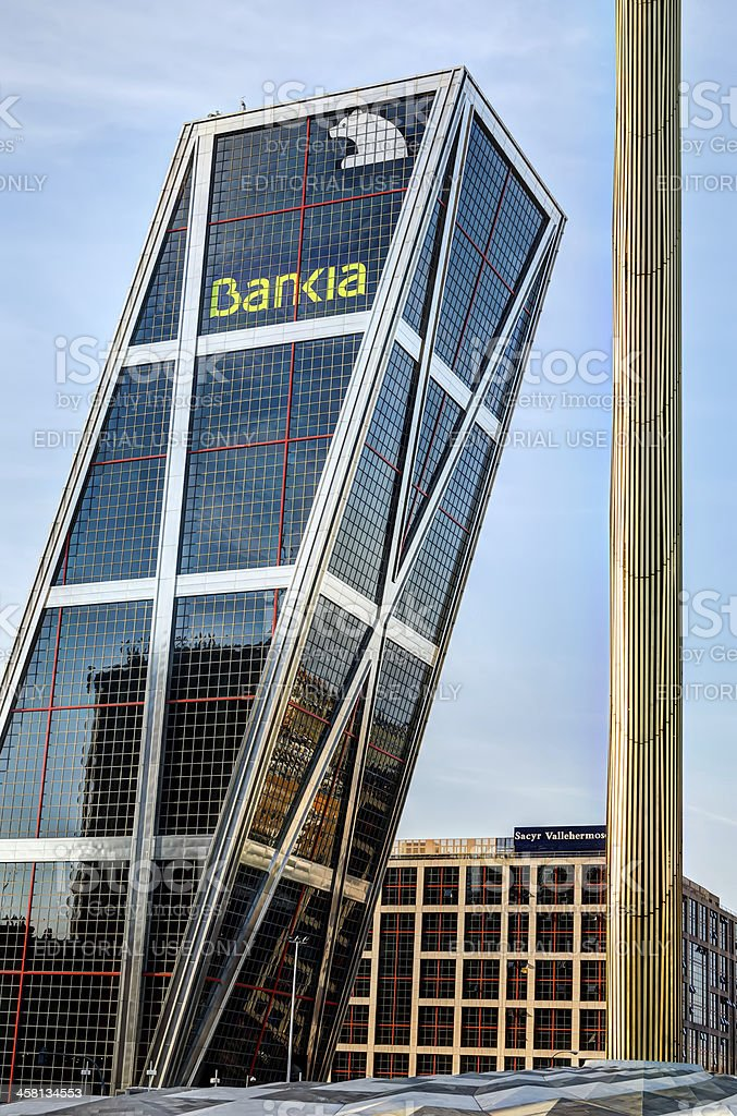 Bankia la sede central, Madrid, España - foto de stock