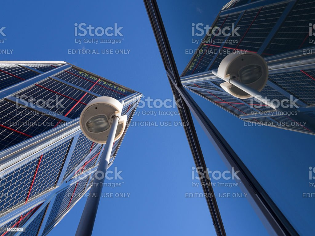 Bankia sede en las torres KIO - foto de stock