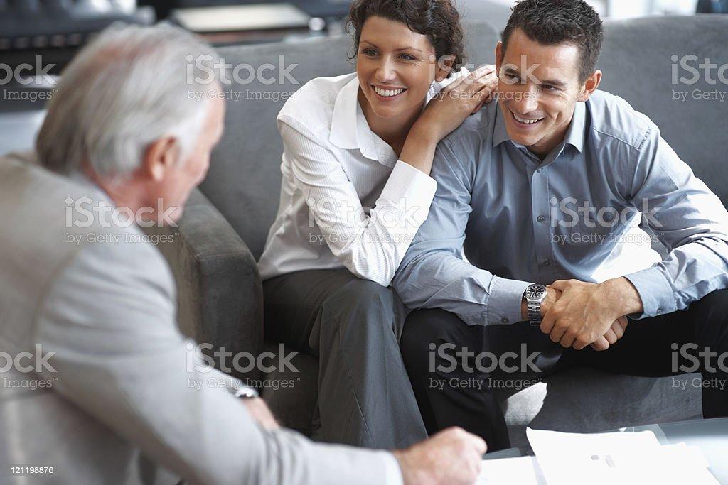 Banking investment System Anmerkung erklären, ein Paar – Foto