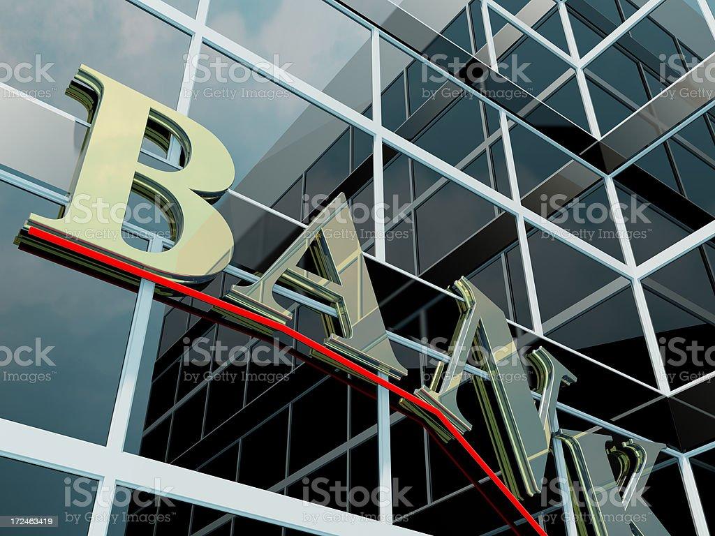 Banking and crisis royalty-free stock photo
