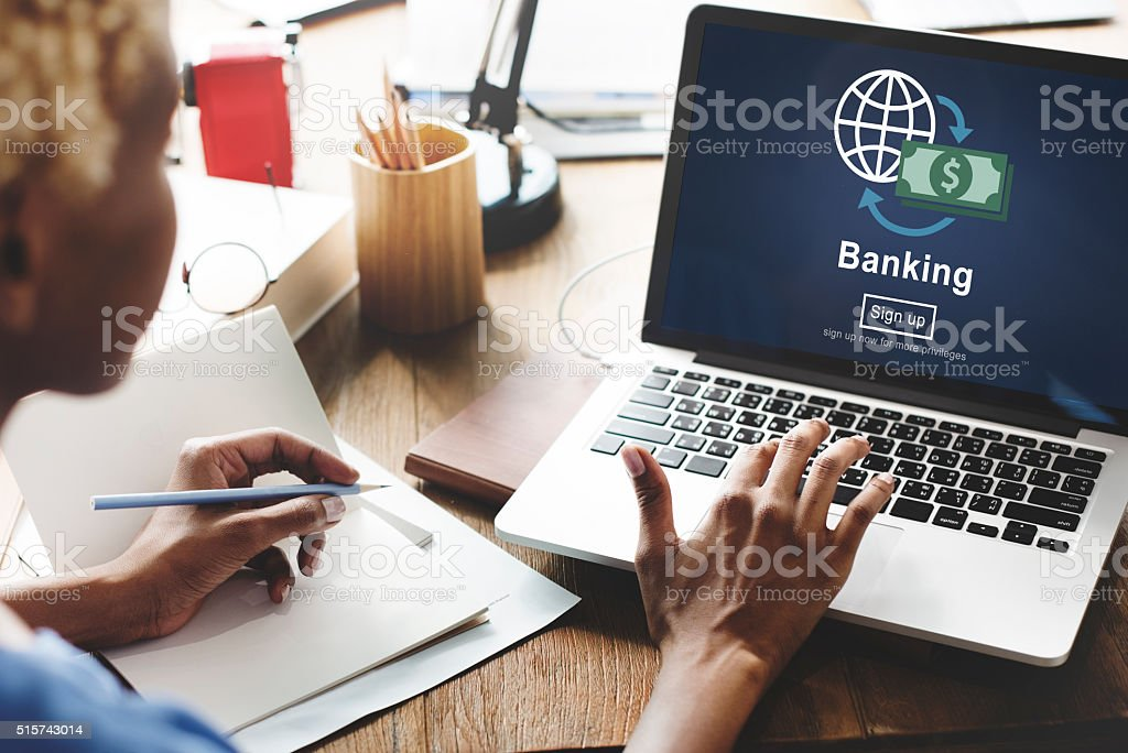 Banking Business Account Finance Economy Concept stock photo