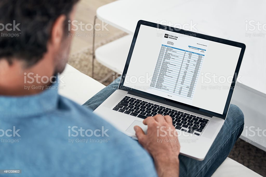 Banking online stock photo