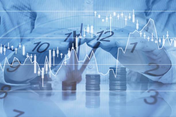 banking oder investition versicherungskonzept - inflation stock-fotos und bilder