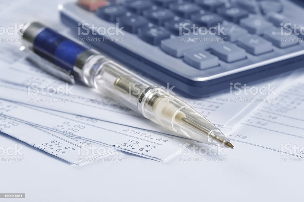 Banking report royalty-free stock photo