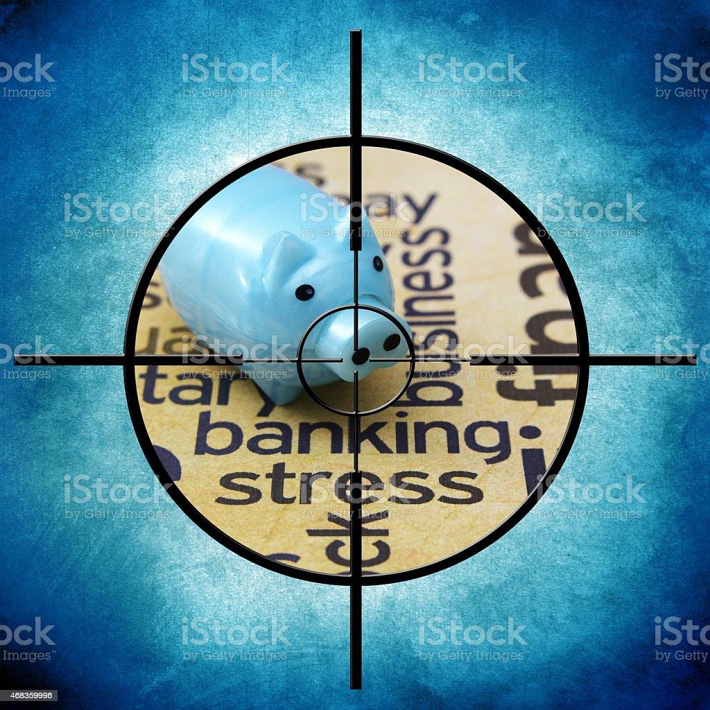 Banking stress target royalty-free stock photo