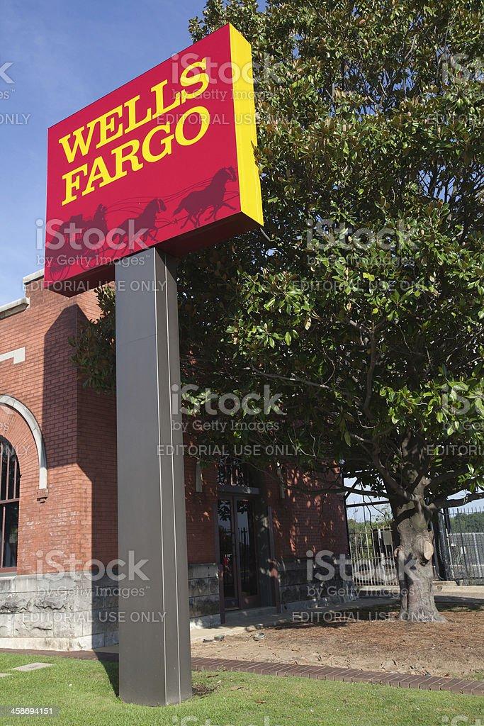 Banking Wells Fargo stock photo