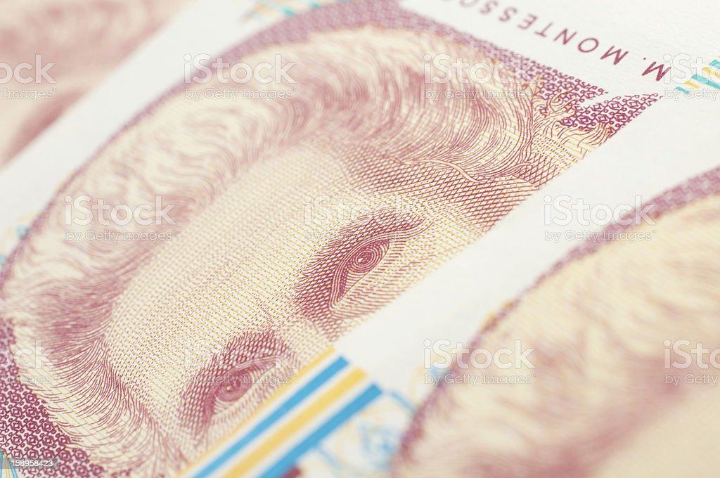 banknote thousand liras royalty-free stock photo