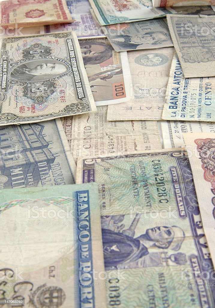 Banknotes from the World stock photo