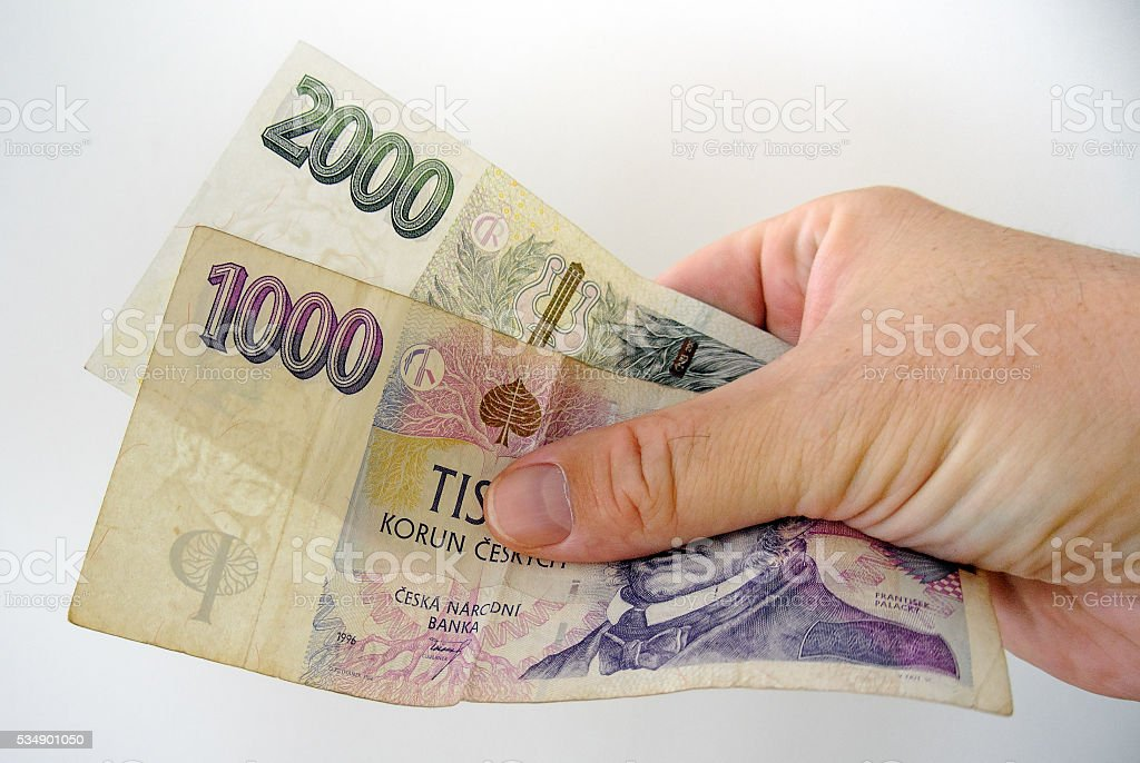 Bank-notes in white man hand. Pay bills with money. – Foto