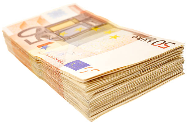 banknotes of 50 euro  fifty euro banknote stock pictures, royalty-free photos & images