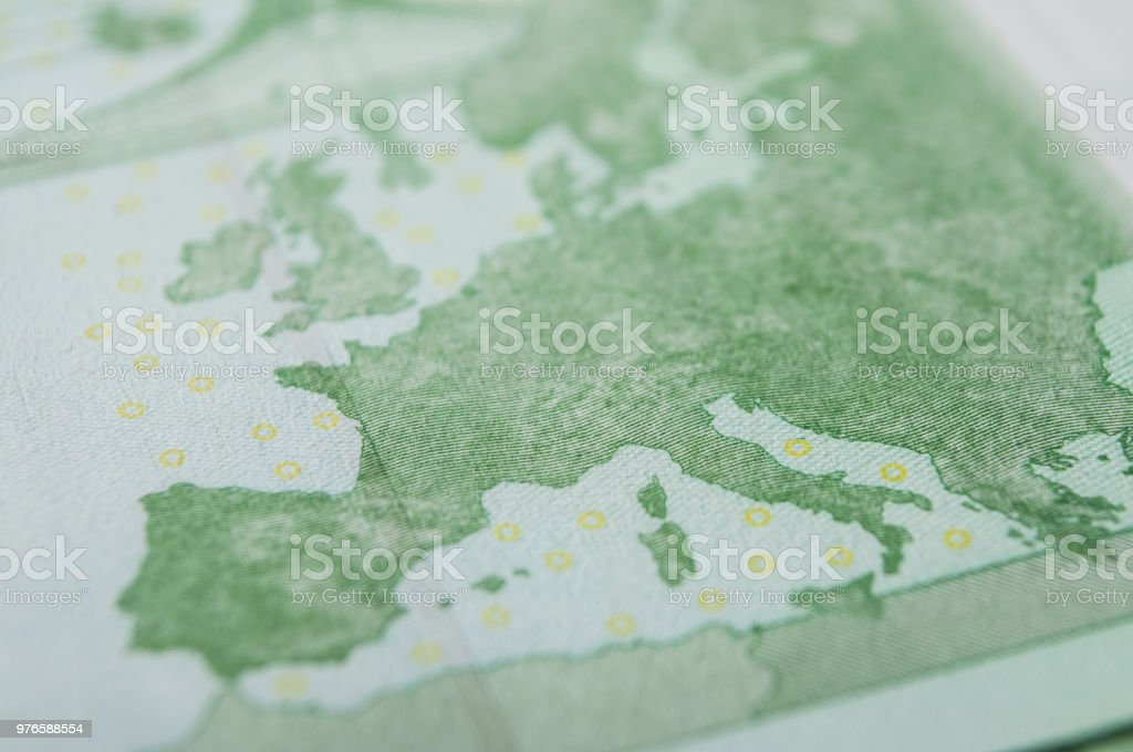 banknotes of hundred euros money stock photo