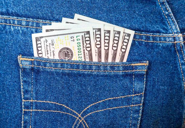 Banknoten von hundert amerikanischen Dollar – Foto