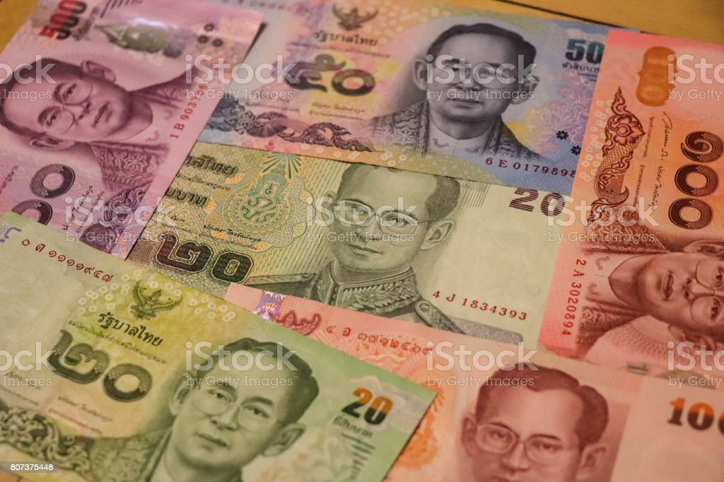 Banknotes Of Thailand Of Different Types And Years World Paper Money