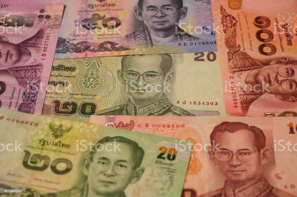 Banknotes Of Thailand Of Different Types And Years World