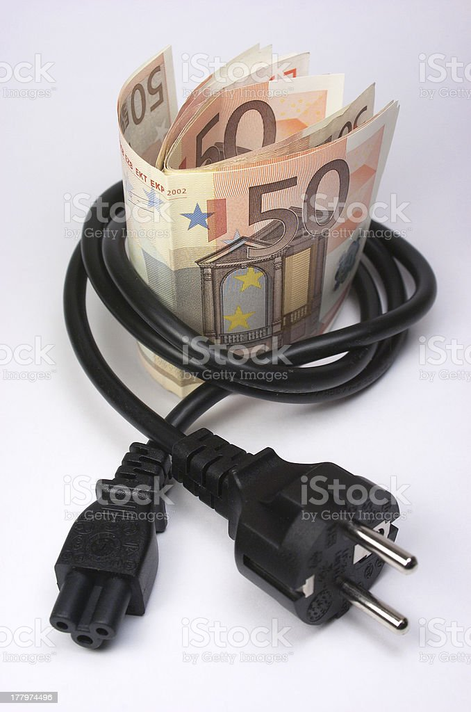 Banknotes. Plug royalty-free stock photo