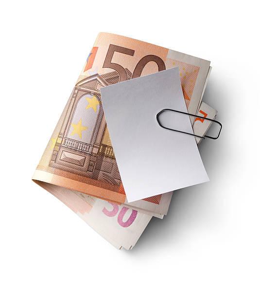 Banknoten mit Kassenbeleg – Foto