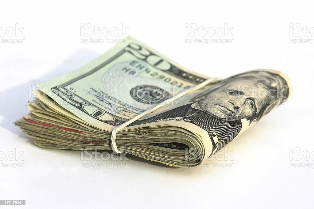 Bankroll royalty-free stock photo