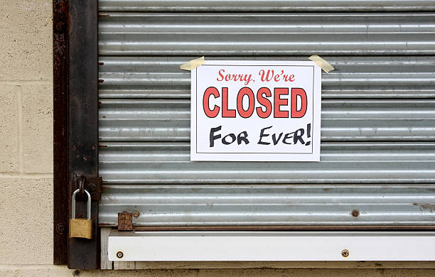 Bankrupt business with a closed forever sign on the door picture id91648661?b=1&k=6&m=91648661&s=612x612&w=0&h=tyn8 yodc0bja0l2wupqiey wz7gsnhzjfde6bv2pfm=