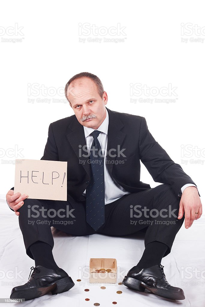 Bankrupt businessman royalty-free stock photo
