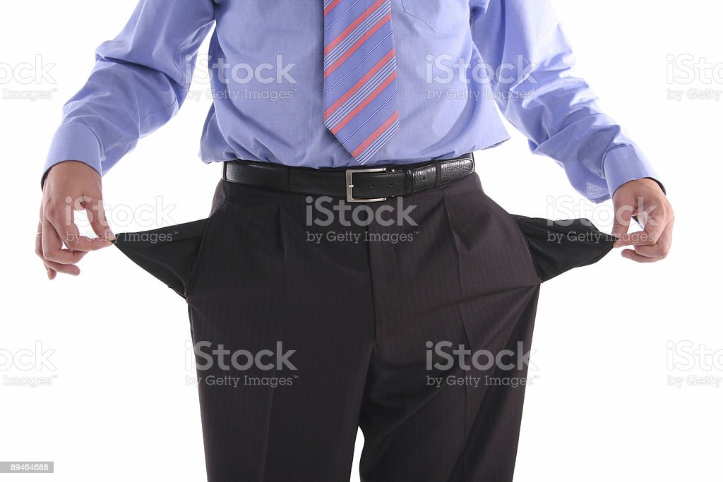 Bankrupt royalty-free stock photo