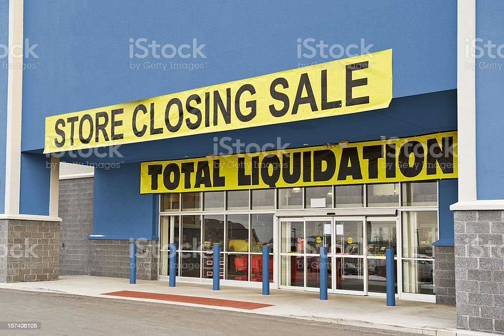 Bankrupt Retail Store stock photo