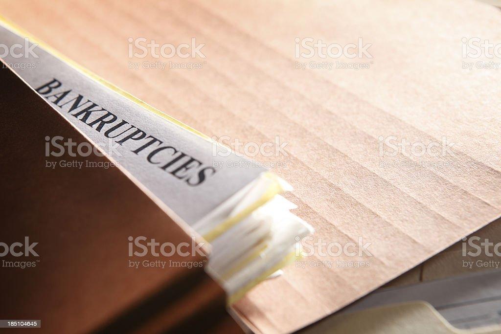 Bankruptcies stock photo
