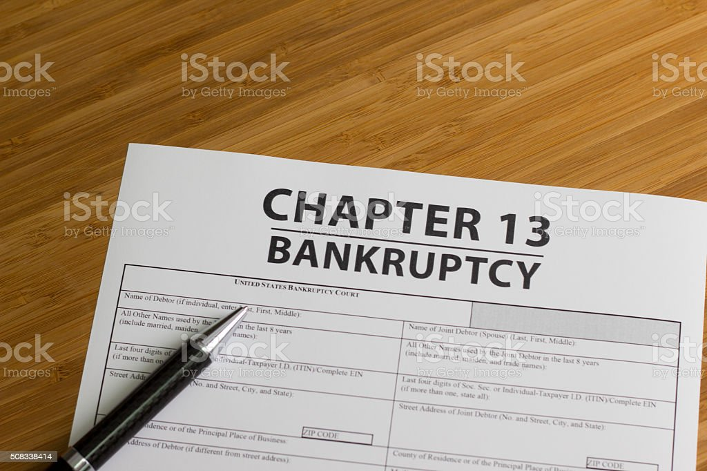 Bankruptcy Chapter 13 stock photo