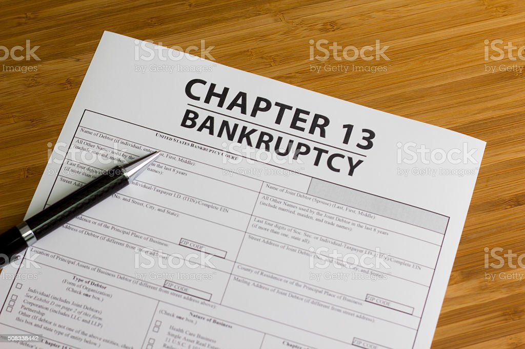 Bancarrota el Capítulo 13 - foto de stock