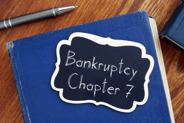 Bankruptcy Chapter 7 is shown on the conceptual business photo Bankruptcy Chapter 7 is shown on the conceptual business photo number 7 stock pictures, royalty-free photos & images