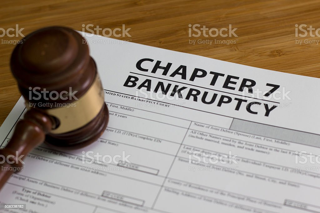 Bankruptcy Chapter 7 stock photo