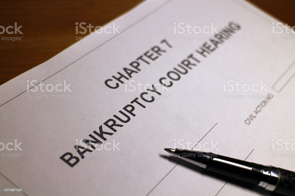 Bankruptcy Court Hearing stock photo