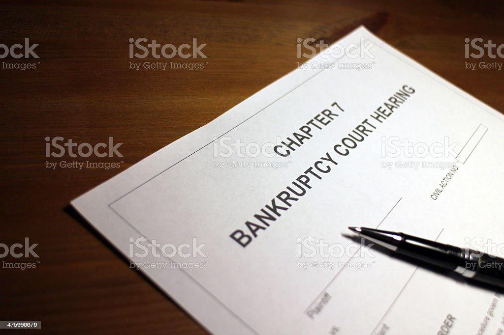 Bankruptcy Court stock photo