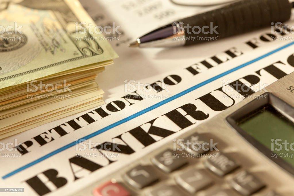 Bankruptcy kit stock photo