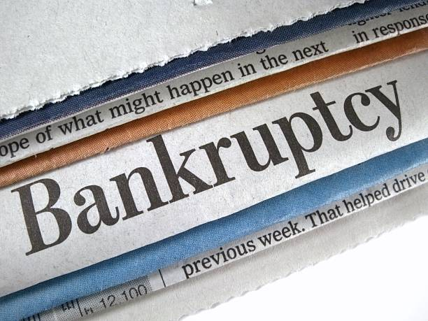 Bankruptcy stock photo