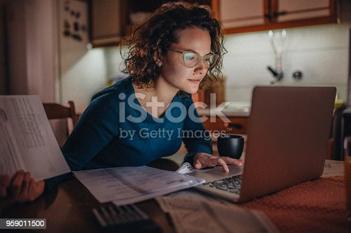 Young woman having financial problems