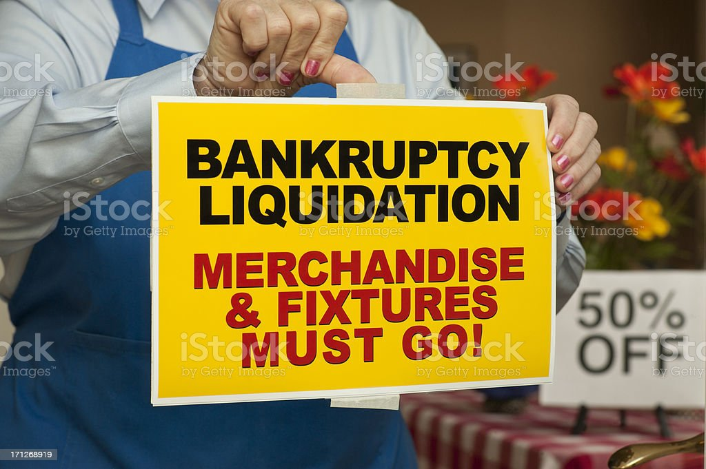 Bankruptcy Sign stock photo