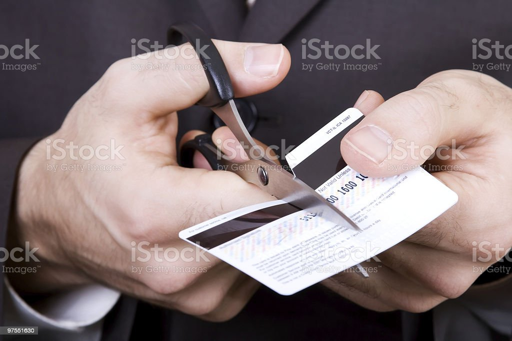 Bankruptcy - to scissors a credit card royalty-free stock photo
