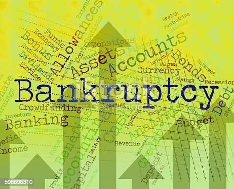 Bankruptcy Word Showing Financial Obligation And Liabilities