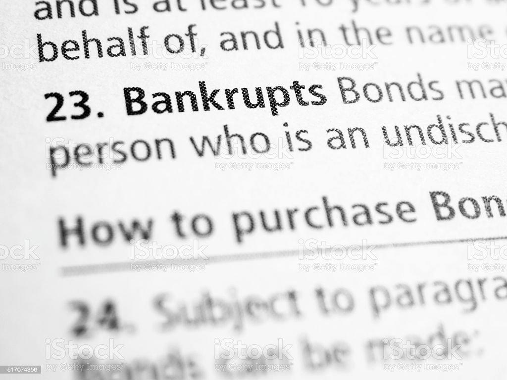 Bankrupts stock photo