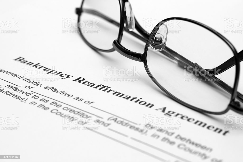 Bankruptsy agreement royalty-free stock photo