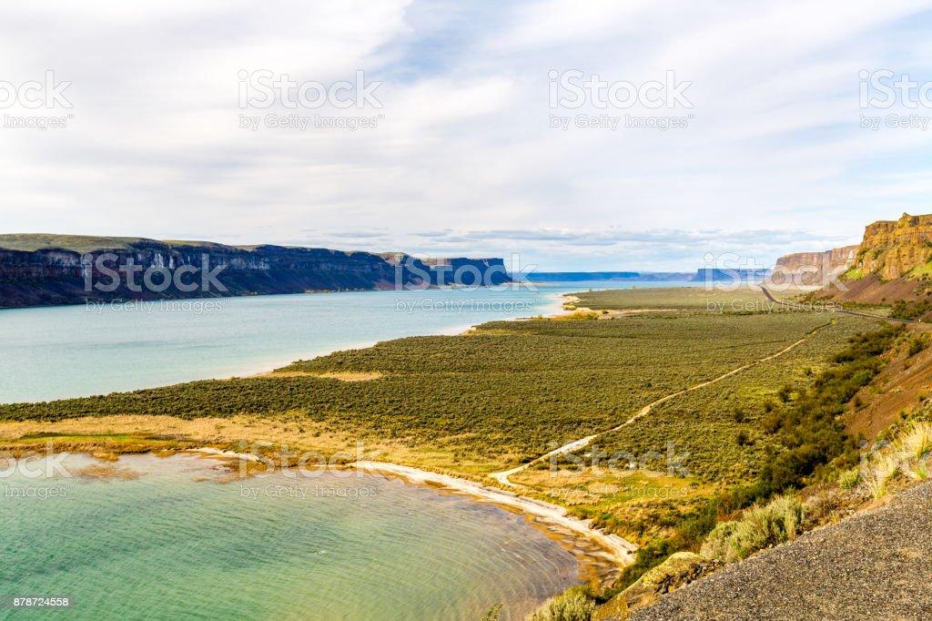 Banks Lake - Columbia Basin Wildlife Area , WA stock photo
