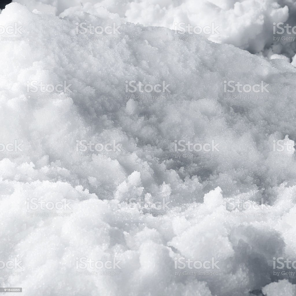 Banks of snow drifts piled together stock photo