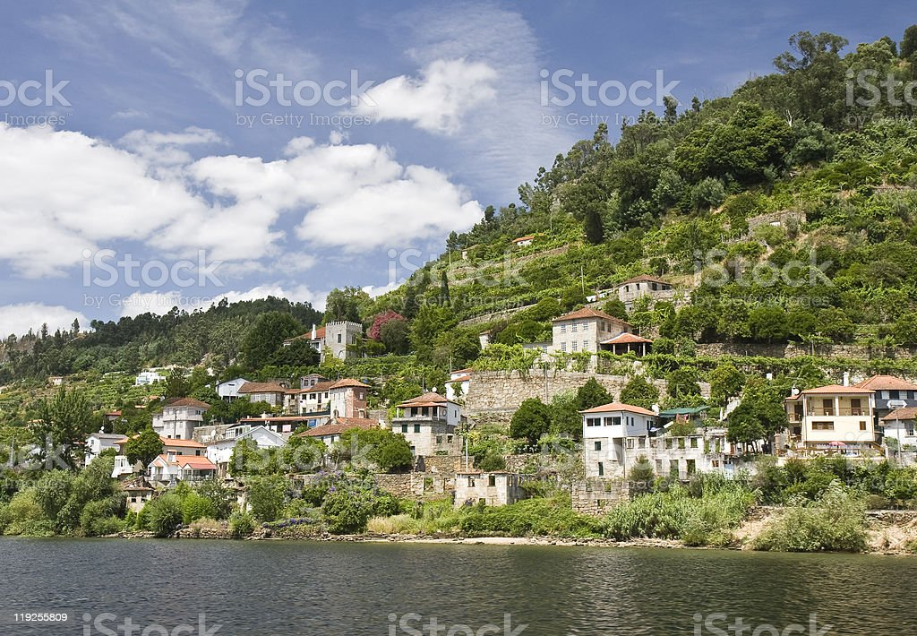 Banks of the Douro River royalty-free stock photo
