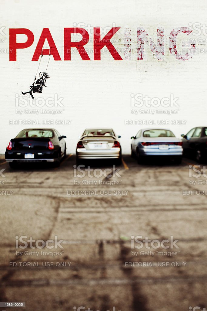 Banksy in Los Angeles stock photo