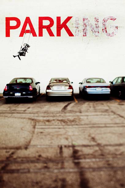 Banksy a Los Angeles - foto stock