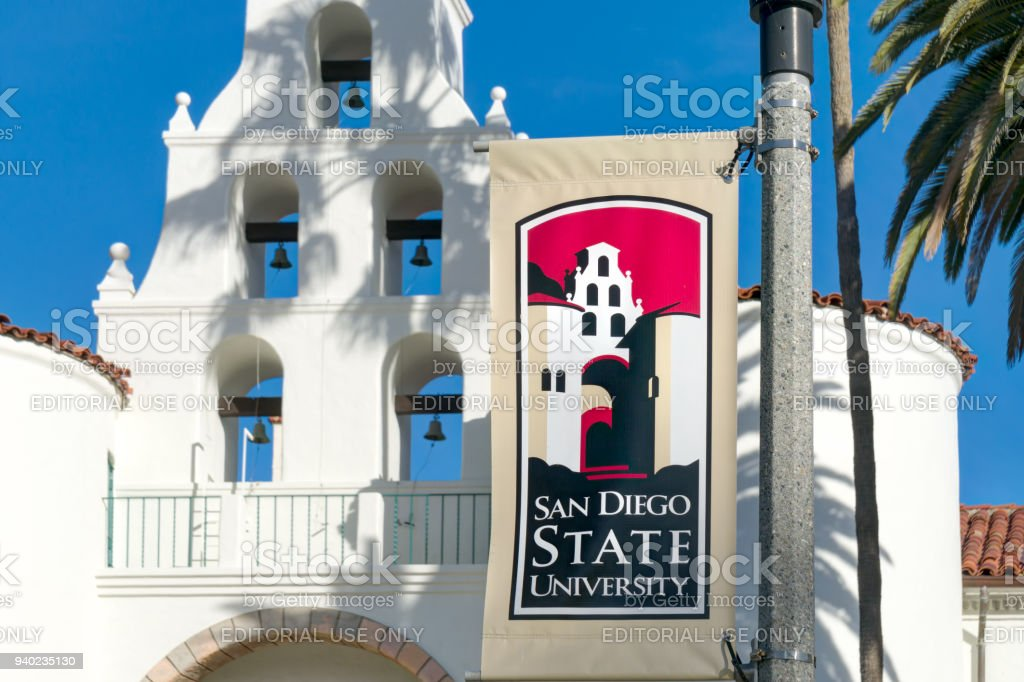 Banner And Logo On The Campus Of San Diego State University Stock Photo Download Image Now Istock