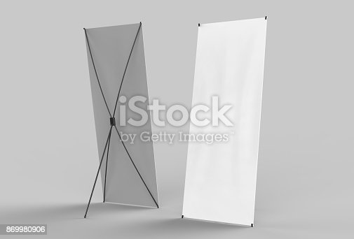 816094246 istock photo Banner Stand 869980906