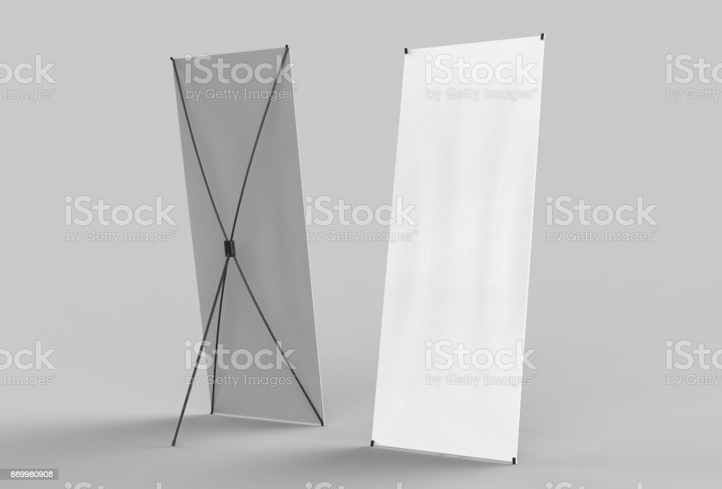 Banner Stand stock photo